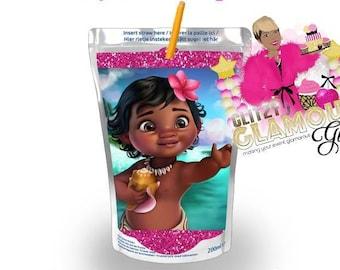Moana Capri Sun, Moana juice box, Moana birthday party, Moana party favor, Moana 1st birthday DIGITAL FILE ONLY