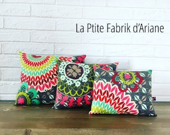 "3 small decoration collection ""Jungle Mandala"" pillows"