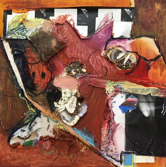 entertaining endless possibilities, mixed media, painting, collage construction