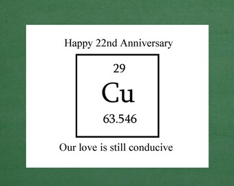 Happy 22nd Anniversary, 22nd Anniversary Gift, Anniversary, Twenty Second Anniversary, Anniversary Cards for Him, Anniversary Cards for her