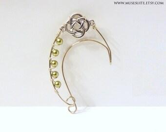 EAR CUFFS - Elf ear cuff - Elf ears - Elven ear cuff - Elven ears - Fairy Ears -Ear cuffs - Celtic knot with swarovski elements. Elvish
