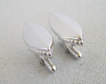 Vintage Swank Silver Cuff Links Marquis