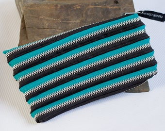pencil case, cosmetic case made of various colors & metal zipper,