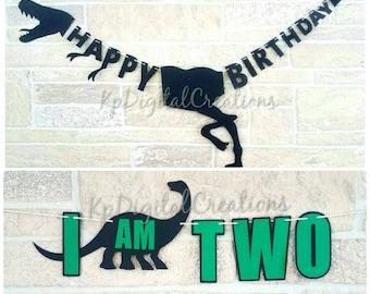 Dinosaur birthday banner, Dinosaur highchair banner, Dinosaur banner, Dinosaur party, Dinosaur birthday, Dino decor, Jurassic park birthday