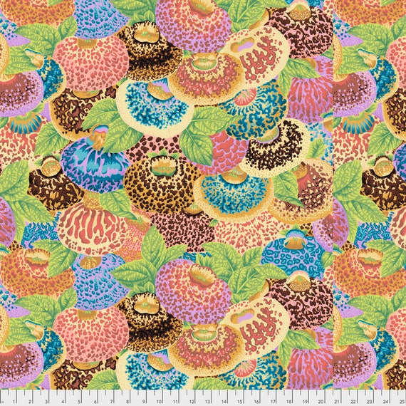 LADIES PURSE Ochre Philip Jacobs PWPJ094.OCHRE Kaffe Fassett Collective Sold in 1/2 yd increments