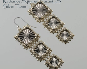 Radiance Squared Earrings Kit in Metalic Silver