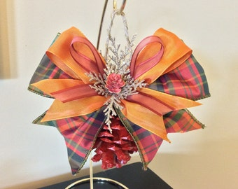 Pinecone ornaments, Christmas ornament, holiday ornament, harvest decor, Christmas decor, autumn decor, fall decor, Thanksgiving decor