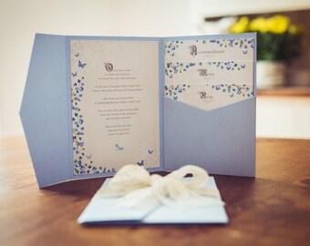 Cinderella Wedding Invitation | Fairytale Wedding Theme Invite | Glass slipper and Princess Wedding | Luxurious Occasion Invitation