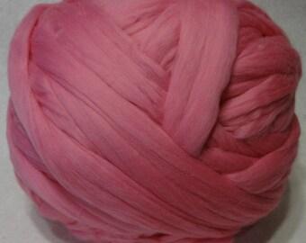 Wool Roving, Merino Wool Roving, Merino Wool, Roving, Pink Roving, Felting Wool, Spinning Wool - Camellia Merino Wool Roving - 8 oz