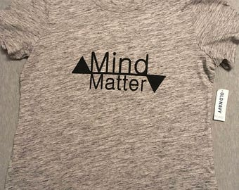 "Heathered Gray Crew Neck ""Mind/Matter"""