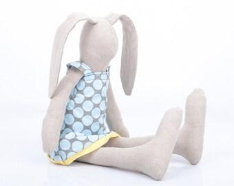 Easter bunny doll , soft rabbit , cuddling doll , stuffed doll , huggable toy , Ragdoll toy , babyshower present , Plushie Softie doll
