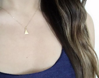 Tiny Triangle Necklace