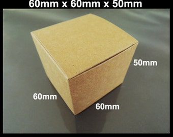 Kraft Paper Box - 10pcs Brown Kraft Boxes Square Paper Box Gift Boxes Gift Wrapping Wedding Favors 60mm x 60mm x 50mm