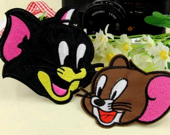 Fusible Tom and Jerry embroidered patches embroidered patch