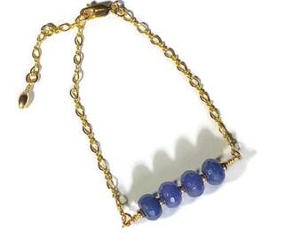 Gold and Malaysian Jade Bracelet