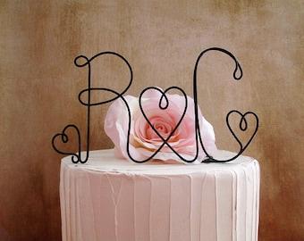 Initials Wedding Cake Topper, Monogram Rustic Wedding Cake Decoration, Wedding Decoration, Rustic Wedding Centerpiece, Engagement Party