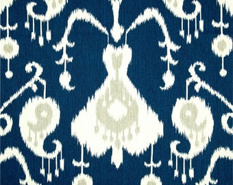 Java Navy, Magnolia Home Fashions - Cotton Upholstery Fabric By The Yard