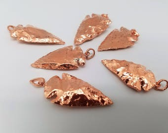 1 - 1.5 Inch (Small) Rose Gold Arrowhead Pendants