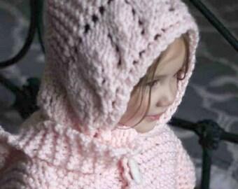 Leaf Hood Pattern, Knitting Hood Pattern,Hat Knit Pattern