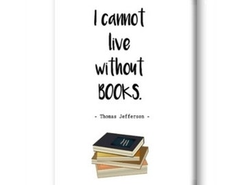 I Cannot Live Without Books Magnet, Fridge Magnet