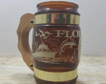 Siesta Ware Florida souvenir mug, State mug, 1970s collectible state mug