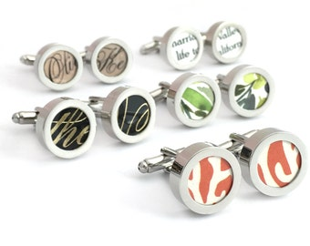 1 Year Anniversary Gift for Him / Paper Anniversary / 1st Anniversary for Him / Custom Cufflinks with Your Paper Wedding Invitation