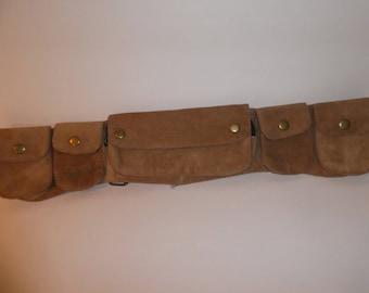 Suede belt bag,fanny pack, bum bag.festival.hippy