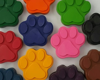 Paw Patrol Crayons, Set Of 8, Dog Paw Crayons, Coloring, Party Favors, Goody Bags, Kids Gifts