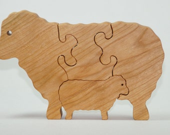 Wooden Sheep Puzzle, Wooden Sheep Toy, Sheep Puzzle, Sheep Toy, Wooden Lamb Puzzle, Wooden Lamb Toy, Lamb Puzzle, Lamb Toy