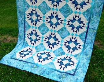 SALE, Buy 2, Get 1 Free -- MIDNIGHT MAGIC, pdf quilt pattern, Throw, Twin, Queen & King sizes