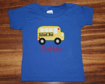 School Bus shirt, First day of school shirt, Personalized school bus shirt, School bus t-shirt, School Bus, School Shirt, Yellow School Bus