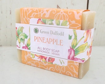 Pineapple Bar of Soap - Green Daffodil