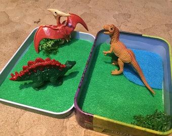 Dinosaur Play Tin