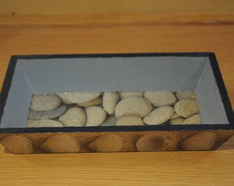 "Nice small rectangular tray - themed ""Pebbles and shells"""