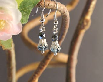 Blue Glass Elegance Earrings