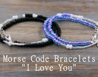 Couples Jewelry, I Love You Jewelry, I love you Bracelet Set for Couples, Bracelet Set for His and Hers Gifts, Couples Necklace Love Jewelry