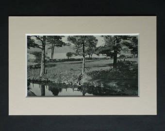 1930s Antique St Mary's Loch Print, Selkirk Decor, Available Framed, Scotland Art, Scottish Borders Gift, Scots Landscape, Moffat Picture