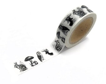 Washi Tape, Japanese Tape, Paper Tape, Animal Print Tape, Decorative Tape, Party Tape, Wedding Tape, Masking Tape