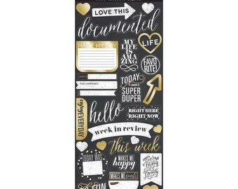 Love This Gold Foil Chalkboard Style Stickers - mambiSTICKS - Me & My Big Ideas - 31 Pieces