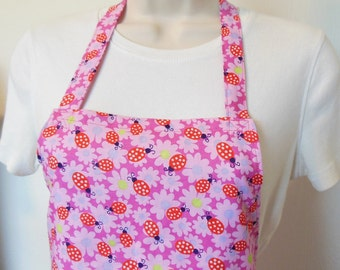 Full Apron - Ladybugs and Flowers