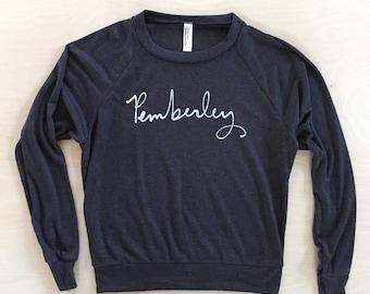 Lightweight Slouchy Sweatshirt - Pemberley - Jane Austen - Mr. Darcy