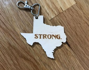 Custom Engraved State Keychain - Personalized Keychain -  Laser Cut - Laser Engraved - Strong - Home