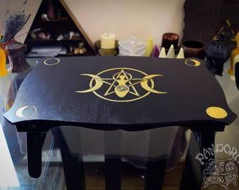 Altar table, Goddess, Moon