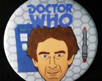 Doctor Who. Eighth Doctor Version 2. Custom 38mm Pin Badge.