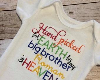 Personalized Hand Picked Rainbow Baby Onesie
