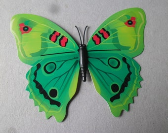 x 1 large embellishment Butterfly shape green craft 12 x 10 cm