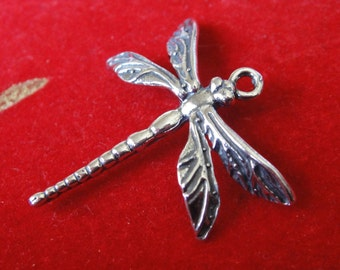 925 sterling silver oxidized dragonfly, silver dragon fly, dragonfly charm , charm, silver charms,dragonfly 1 pc, large dragonflhy