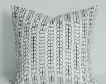 Pillow cover, Throw pillow, Decorative pillow, Black and white pillow, Couch cushion, Sham, 16x16, 18x18, 20x20, 22x22, 24x24, 26x26