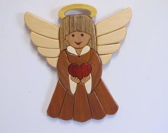 Intarsia love angel