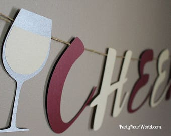 Cheers B*tches Banner, Wine Party, Bachelorette/ Girls' Night/ Adult Birthday Decorations